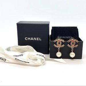Chanel Paris Dallas Collection Red Garnet CC Pearl